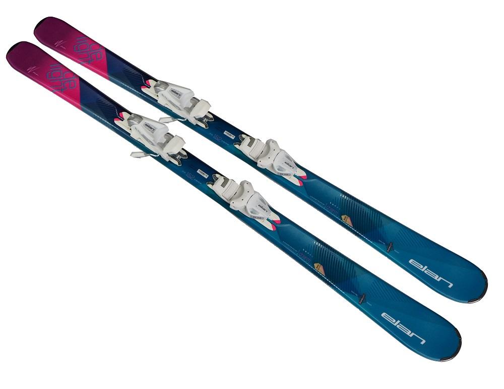 2018エランELAN女性用最軽量スキー「ディライトチャームライトシステム」+金具 EL7.5 SHIFT