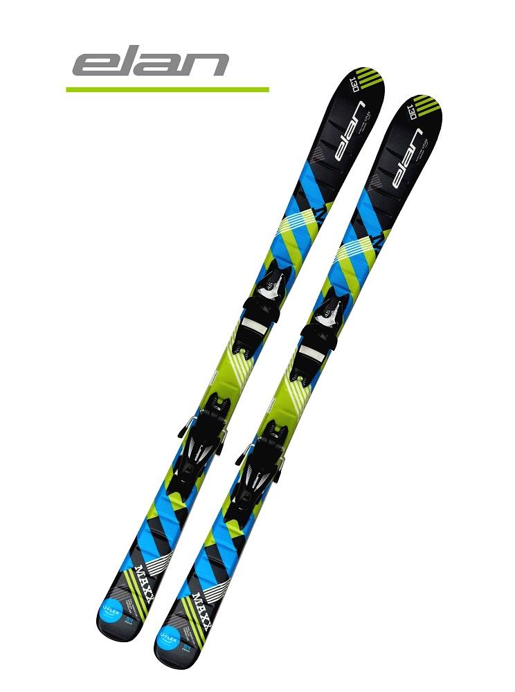 '19エランELANジュニアボーイズ用スキー2点セット≪U-FLEX≫「MAXX BLK BLUE」(130cm~140cm)