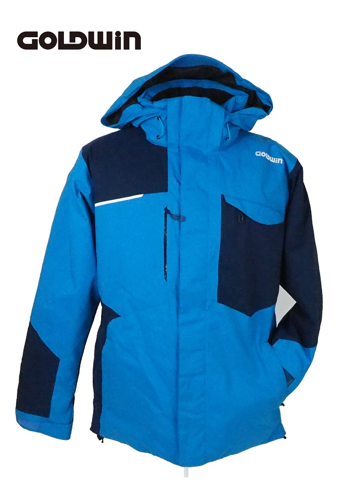 18GOLDWIN(ゴールドウィン) スキージャケット「Stream Jacket ストリーム ジャケット」G11710P(クリアブルー×ネイビーブルー)XLサイズ