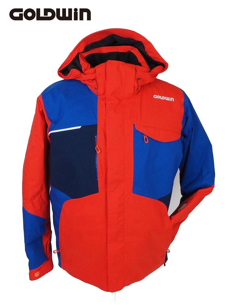 【数量限定】 18GOLDWIN(ゴールドウィン) スキージャケット「Stream Jacket Jacket ストリーム ストリーム ジャケット」G11710P(フレイムオレンジ×アドリアルブルー)Lサイズ, シロヤママチ:b6601151 --- supercanaltv.zonalivresh.dominiotemporario.com