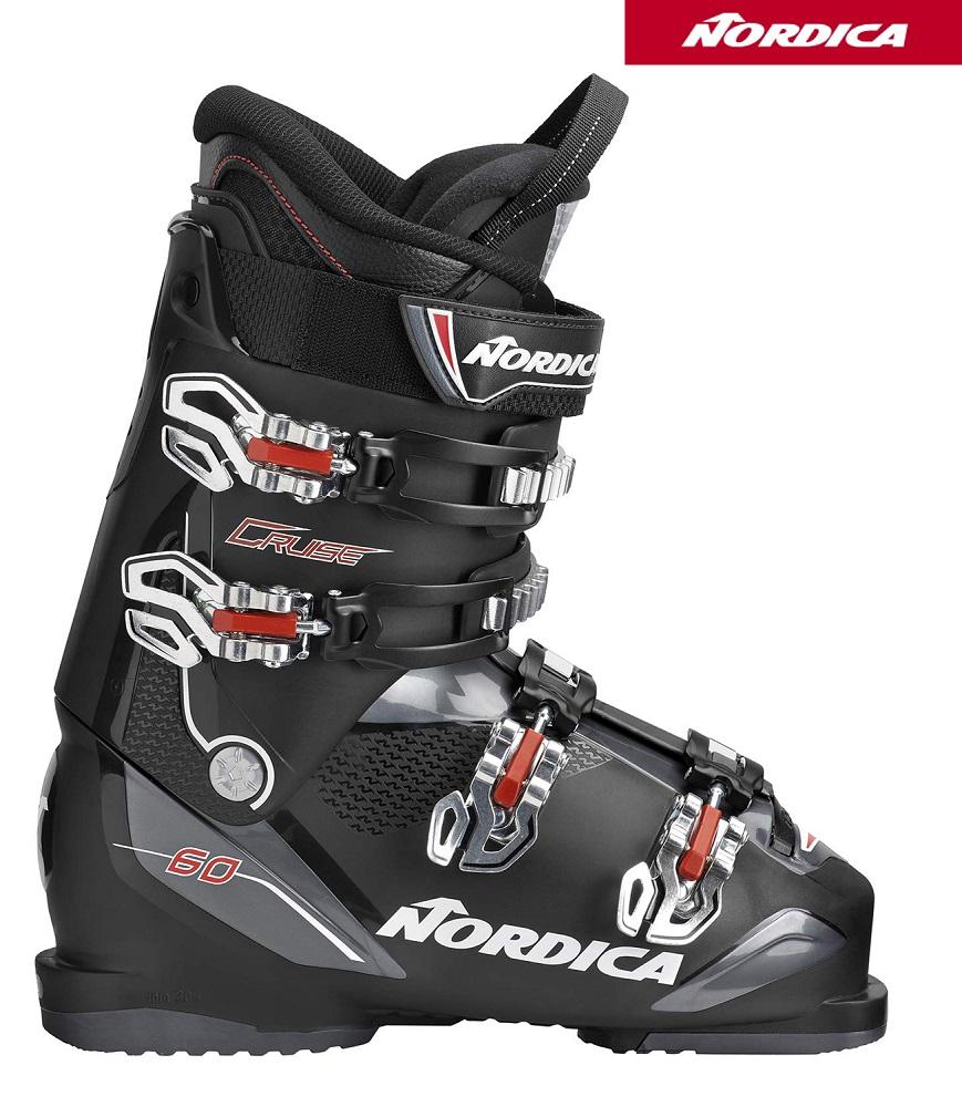 【全国送料無料】18-19ノルディカNORDICA初心者用スキーブーツ「CRUISE 60」ブラック(26.5cm/1足限り)