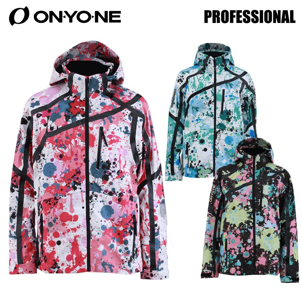 [18oy-j4] 18-19 オンヨネ ONYONE メンズ スキーウエア ジャケット「PROFESSIONAL/PRINT OUTER JACKET」ONP91P42