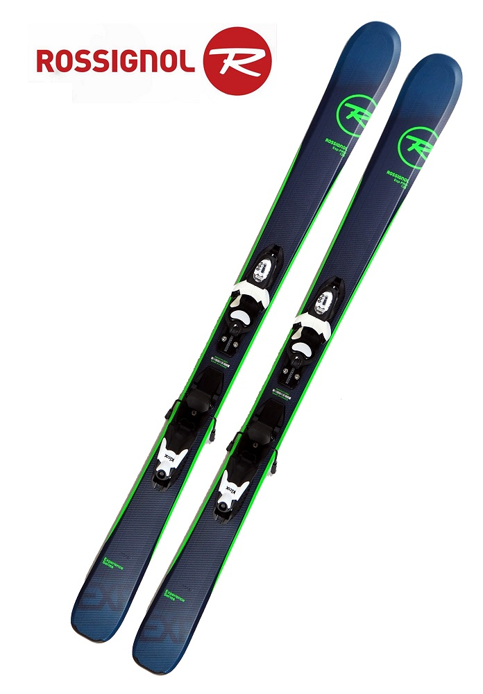 18-19ロシニョールROSSIGNOL ジュニア初心者用 スキー2点セット「EXPERIENCE PRO」+金具KID-X