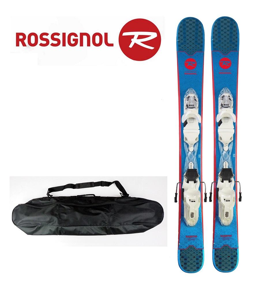 (専用ケース付)19ロシニョールROSSIGNOL女性用ミニスキー、スキーボード「MINI SASSY(サッシー) 99」+金具XPRESS11