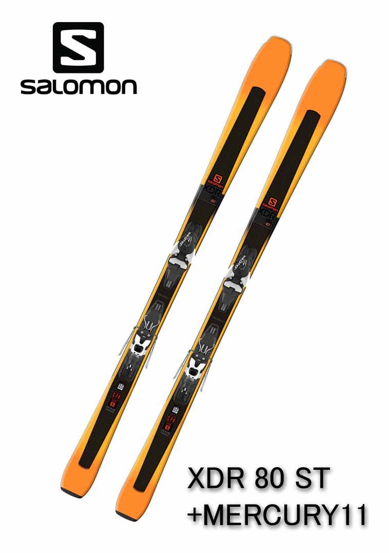 2018 サロモンSALOMONスキー「XDR 80 ST」+金具MERCURY11(160cm)