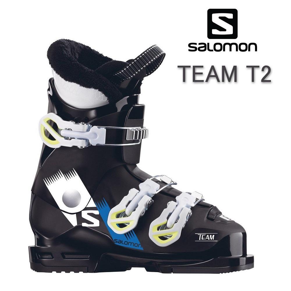 18サロモンSALOMONジュニア2バックルスキーブーツ「TEAM T2」(18.0cm)L391620