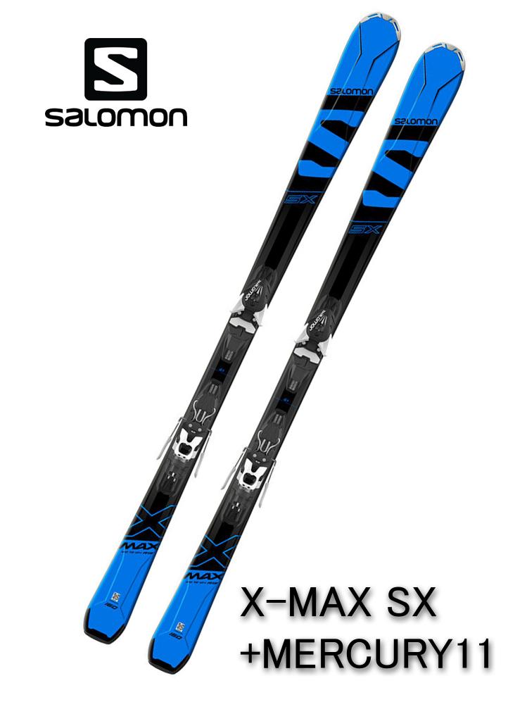 2018 サロモンSALOMONスキー「X-MAX SX」+金具MERCURY11