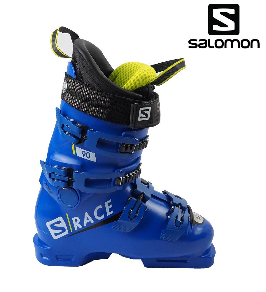 【全国送料無料】19サロモン(SALOMON)ジュニア・レディース競技用モデル「S/RACE 90」24.5cm(RaceBlue/Acid)L40547200