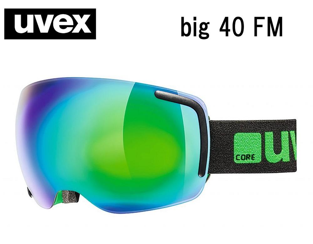 2018-2019UVEX(ウベックス)スキーゴーグル「uvex big 40 FM」≪full mirrorレンズ≫ブラック/グリーンマット5554412726