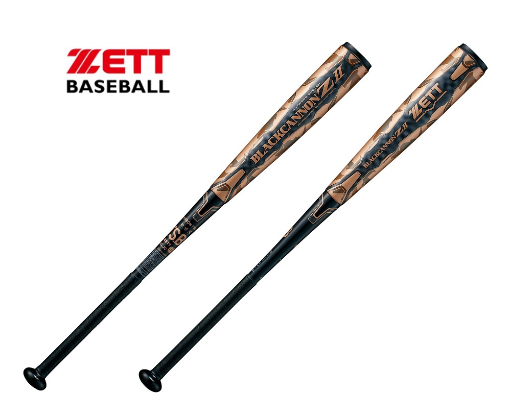 ZETTゼット M号球対応 一般用 軟式カーボンバット「ブラックキャノン Z2」83cm,710g FRP(カーボン製) ブラックBCT35803