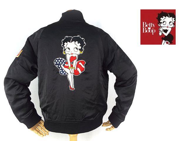 【Betty Boop ベティ・ブープ】刺繍&ワッペン スカジャン「AMERICAN WOMAN」【メール便不可】