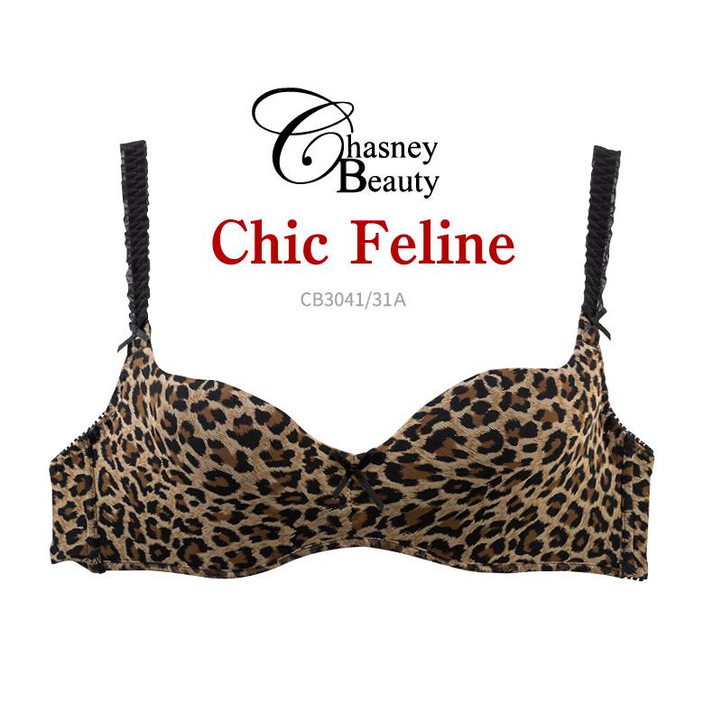 【マラソン限定送料無料】 チェスニービューティ Chasney Beauty シック フェリーン Chic Feline ブラ プッシュアップブラジャー ブラジャー シームレス CB3041/31A
