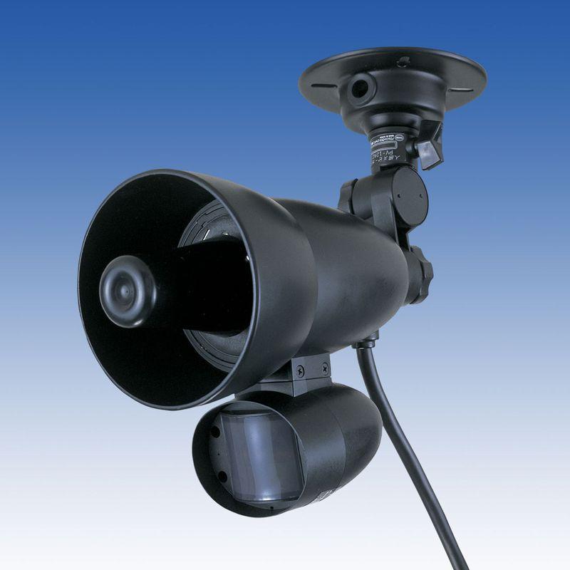 人感スピーカー 音声案内センサースピーカー AC100V用・接点出力付【PV-12A-E】TAKEX/竹中エンジニアリング