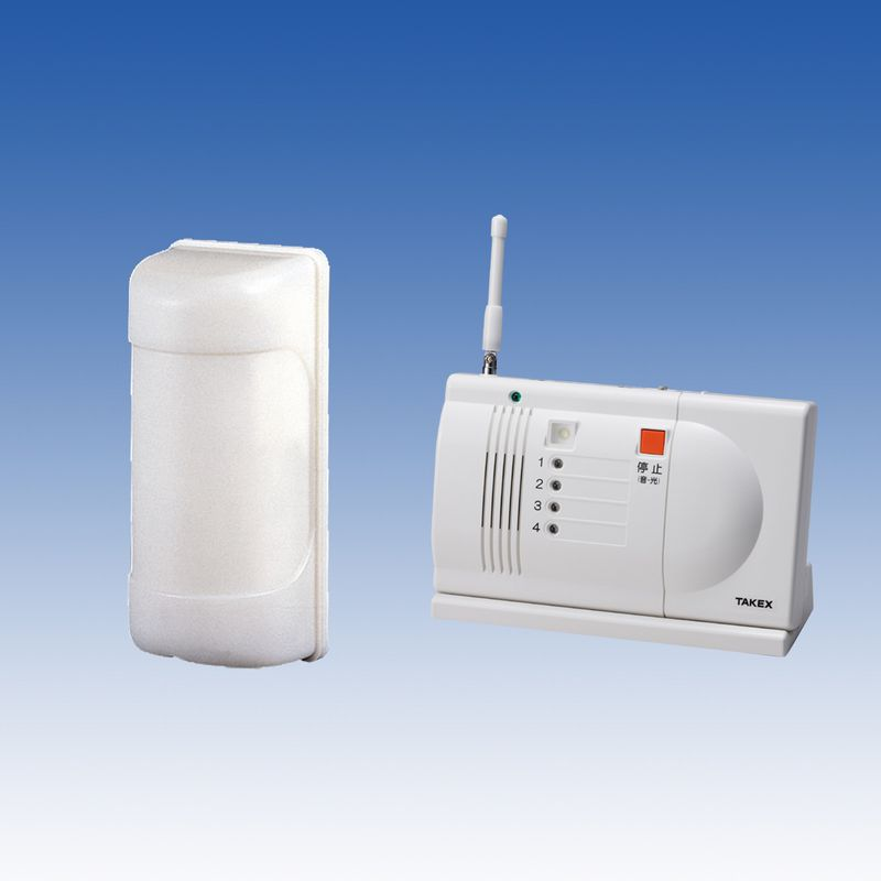 徘徊 お知らせ 感知くん 無線タイプ(ワイヤレスシステム)卓上型受信機セット 徘徊対策 徘徊防止【HS-103(T)】TAKEX/竹中エンジニアリング