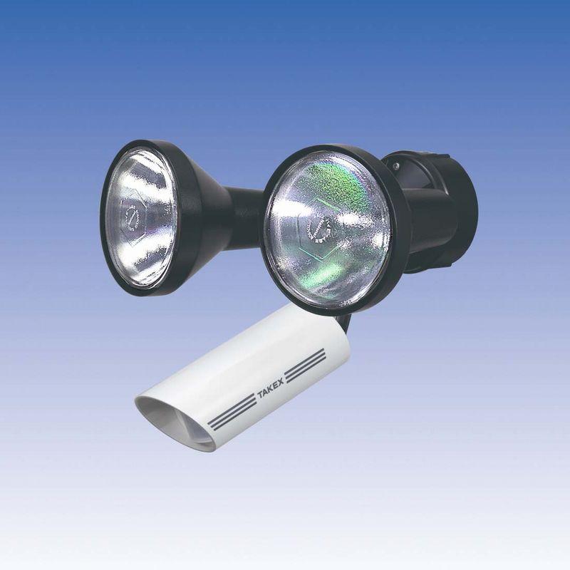 新 人感ライト 音感ライト センサーライト 線検知型 30m用 2灯用【LC-102NA】TAKEX/竹中エンジニアリング
