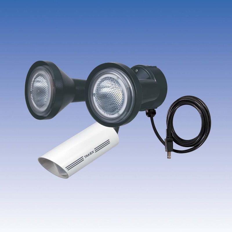 LED 人感ライト 音感ライト センサーライト 立体検知型 15m用 2灯用【LCL-302W(W)】TAKEX/竹中エンジニアリング
