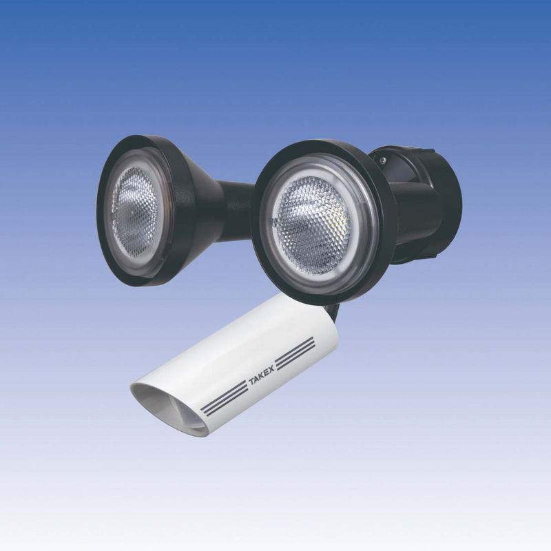 LED 人感ライト 音感ライト センサーライト 立体検知型 15m用【LCL-102W(W)】TAKEX/竹中エンジニアリング