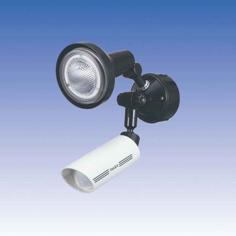 LED 人感ライト 音感ライト センサーライト 立体検知型 15m用【LCL-101W(W)】TAKEX/竹中エンジニアリング