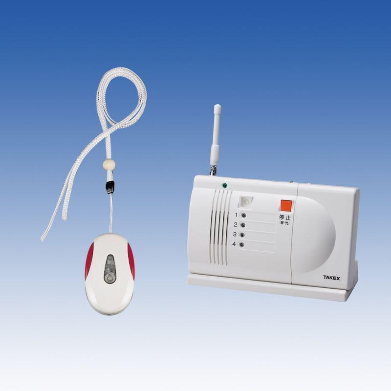 緊急呼出しセット ワイヤレスセット 卓上型受信機セット【ECS-1P(T)】TAKEX/竹中エンジニアリング