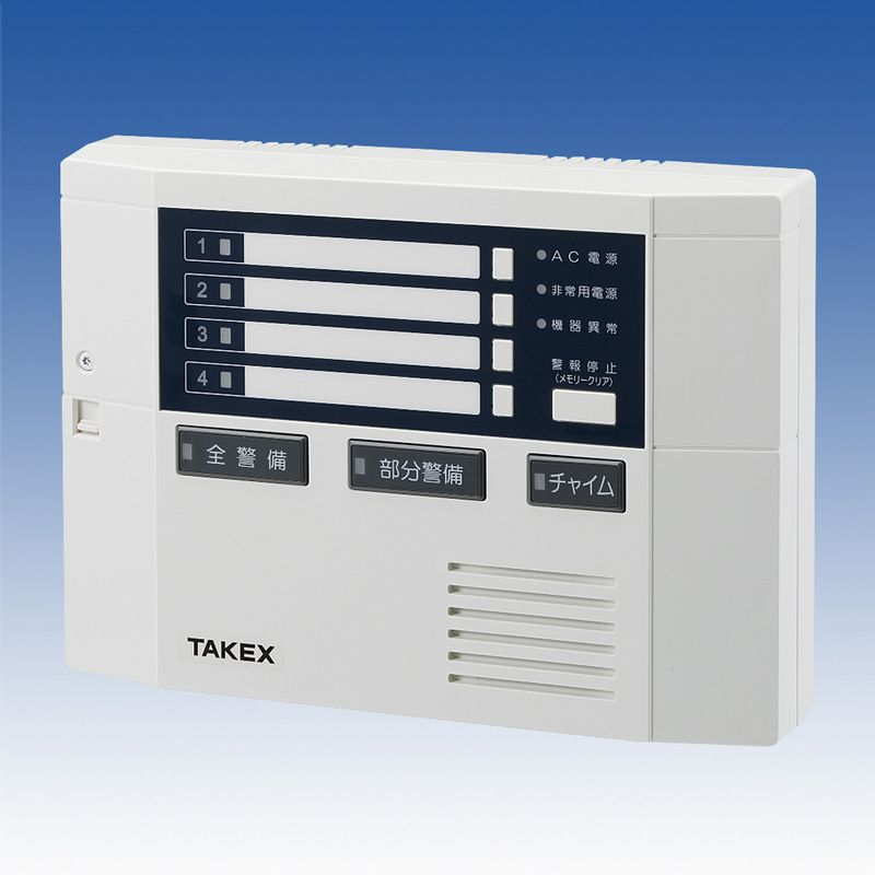 コントローラ 警報制御盤 AC100V DC12V兼用 4回線用【C-804】TAKEX/竹中エンジニアリング