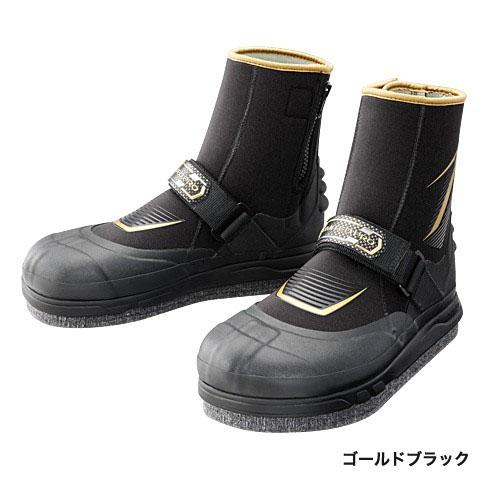 シマノ リミテッドプロ・ジオロック・3DカットピンフェルトAYUタビ (中割) ゴールドブラック L