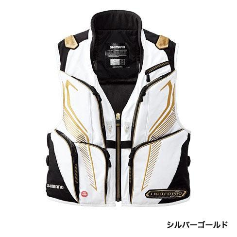シマノ(Shimano) ウィンドストッパー2WAYベスト・リミテッドプロ シルバーゴールド M 【お買い物マラソン ポイント最大44倍】