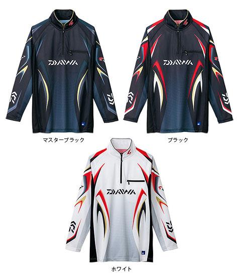 ダイワ(Daiwa) スペシャル アイスドライ・ジップアップ長袖メッシュシャツ ブラック M