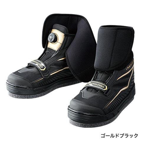 【お買い物マラソン】 シマノ(Shimano) リミテッドプロ・ジオロック・3Dカットフェルトフィットシューズ ゴールドブラック 25.5