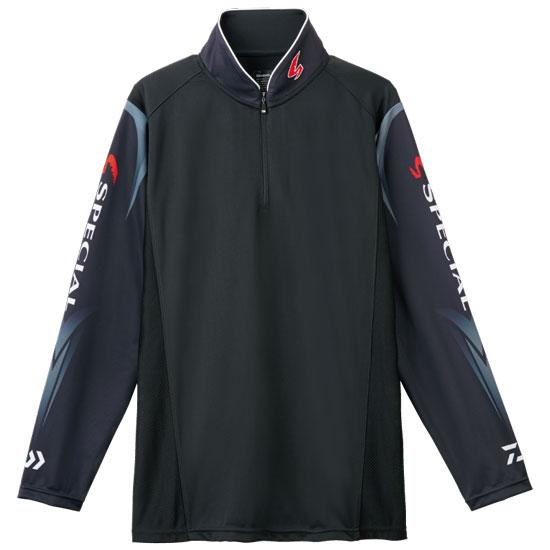 ダイワ(Daiwa) スペシャル ウィックセンサー® ジップアップ長袖メッシュシャツ ブラック 2XL