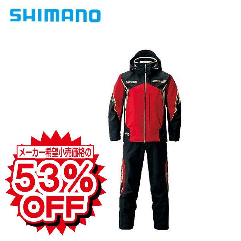 シマノ(Shimano) RA-112N ネクサス・ゴアテックスプロレインスーツ・リミテッドプロ 3XLブラッドレッド /ウェア