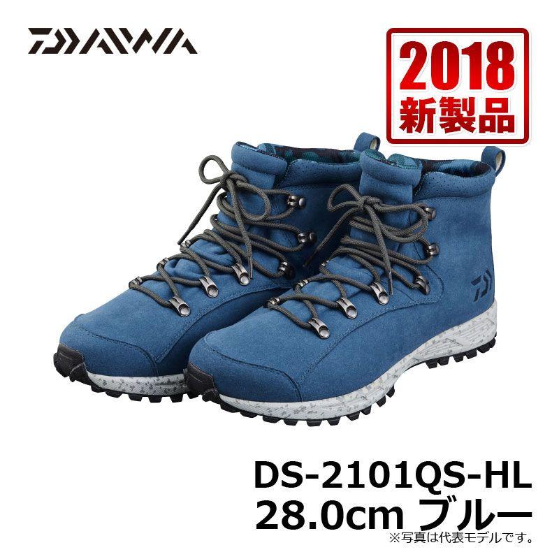 全国一律送料無料 人気のルーズフィットシューズ スパイクシューズ ダイワ Daiwa DAIWAルーズフィットシューズ DS-2101QS-HL 5☆好評 スパイク 28.0cm ブルー 釣り具 シューズ 釣具