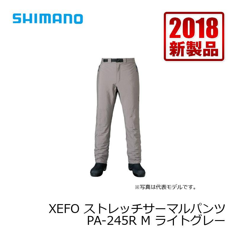 【お買い物マラソン】 シマノ PA-245R XEFO・ストレッチサーマルパンツ ライトグレー M / 防寒 パンツ 釣り