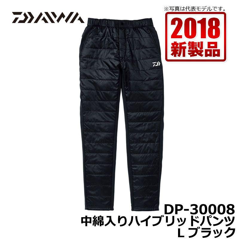 ダイワ(Daiwa) DP-30008 中綿入りハイブリッドパンツ ブラック L / 釣り 防寒 パンツ ズボン