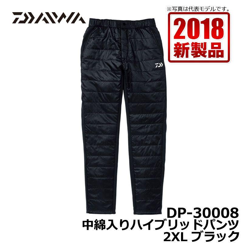 ダイワ(Daiwa) DP-30008 中綿入りハイブリッドパンツ ブラック 2XL / 釣り 防寒 パンツ ズボン