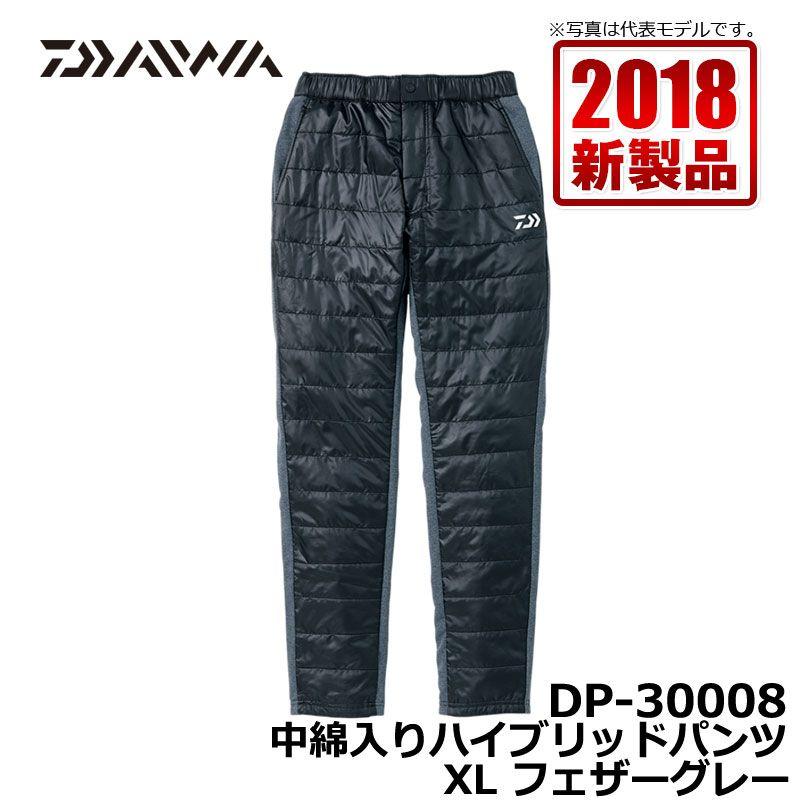 ダイワ(Daiwa) DP-30008 中綿入りハイブリッドパンツ フェザーグレー XL / 釣り 防寒 パンツ ズボン