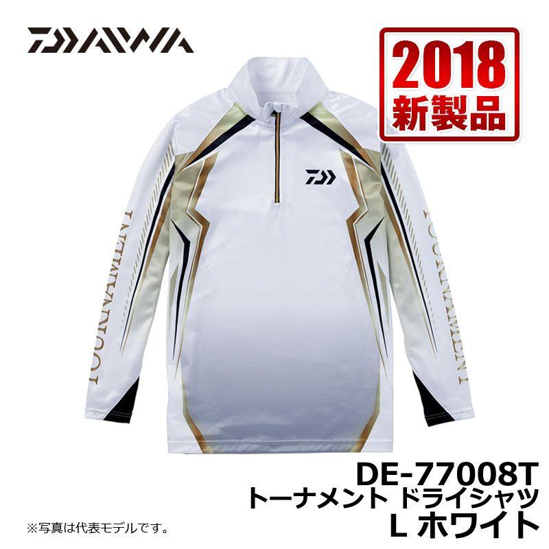 ダイワ(Daiwa) DE-77008T トーナメント ドライシャツ ホワイト L / 釣り シャツ 長袖 UVカット 速乾
