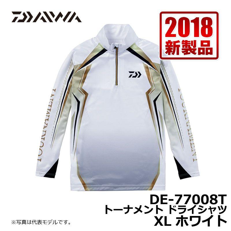 ダイワ(Daiwa) DE-77008T トーナメント ドライシャツ ホワイト XL / 釣り シャツ 長袖 UVカット 速乾