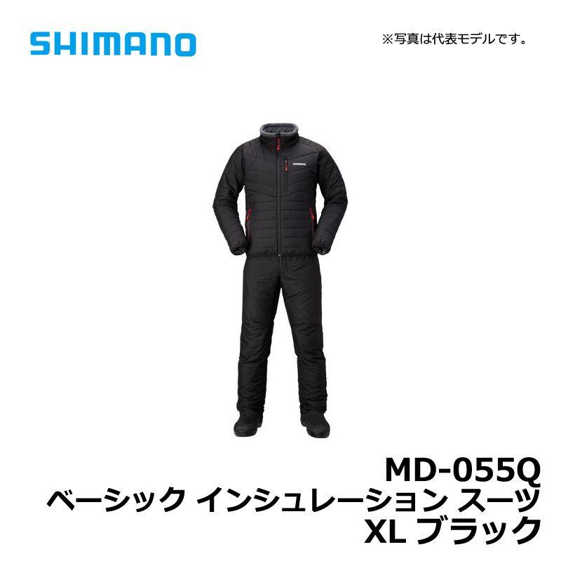 【お買い物マラソン】 シマノ MD-055Q ベーシック インシュレーション スーツ ブラック XL / 防寒ウェア ミドラー 釣り