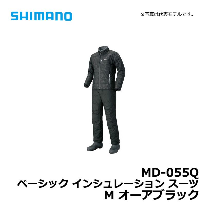 【お買い物マラソン】 シマノ MD-055Q ベーシック インシュレーションスーツ M オーアブラック / 防寒ウェア ミドラー 釣り