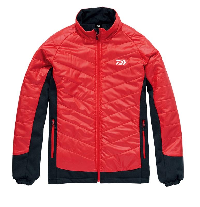 【お買い物マラソン】 ダイワ DJ-29008 ハイブリッドジャケット レッド L / 釣り 防寒 ジャケット