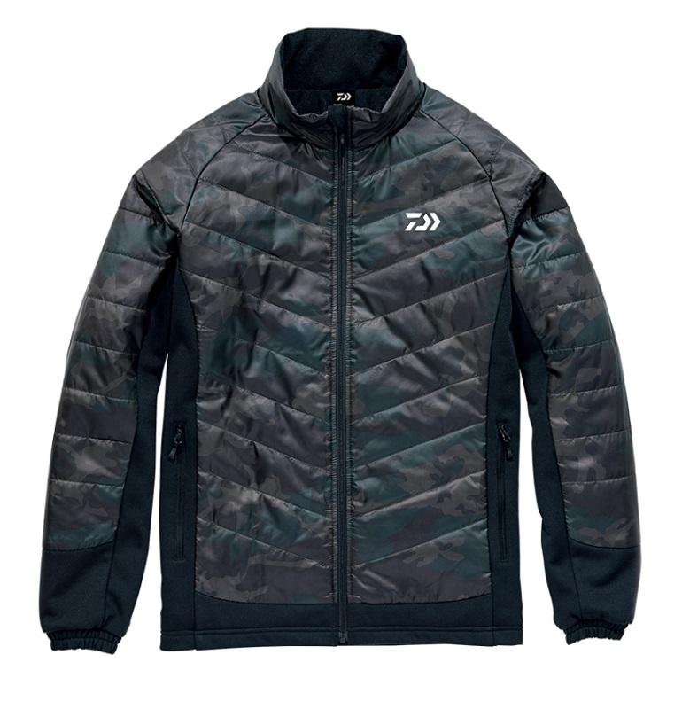 【スーパーセール】 ダイワ DJ-29008 ハイブリッドジャケット グリーンカモ L / 釣り 防寒 ジャケット