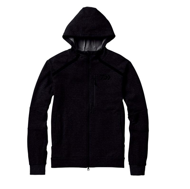 【お買い物マラソン】 ダイワ DJ-31008 CORDURA ライトスウェットパーカ ブラック XL / 釣り 防寒 ジャケット
