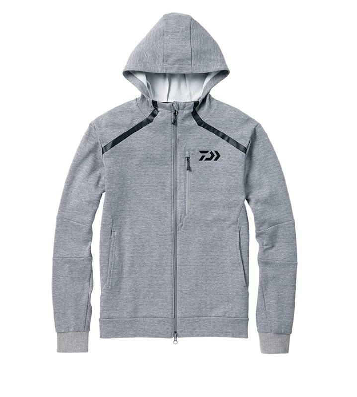 【お買い物マラソン】 ダイワ DJ-31008 CORDURA ライトスウェットパーカ フェザーグレー 2XL / 釣り 防寒 ジャケット