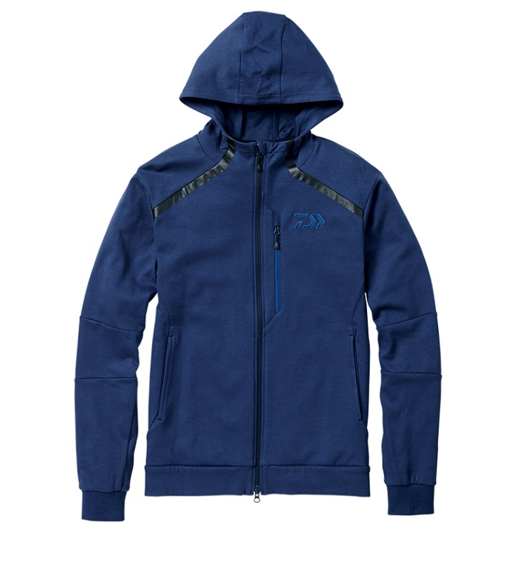 ダイワ DJ-31008 CORDURA ライトスウェットパーカ フェザーブルー XL / 釣り 防寒 ジャケット