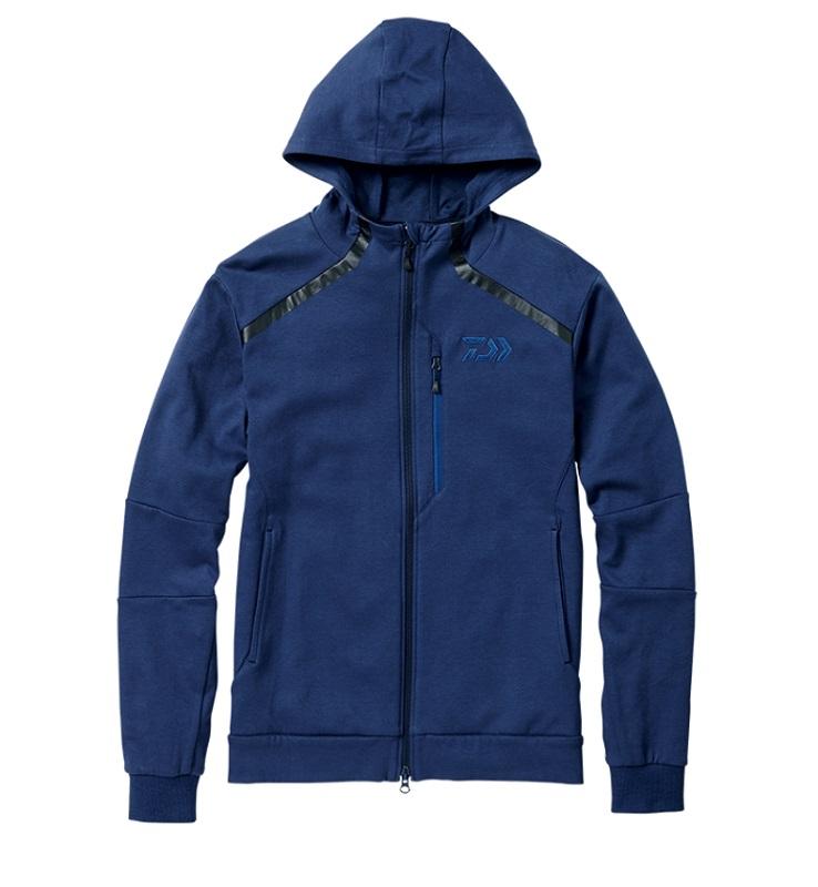 【お買い物マラソン】 ダイワ DJ-31008 CORDURA ライトスウェットパーカ フェザーブルー 2XL / 釣り 防寒 ジャケット