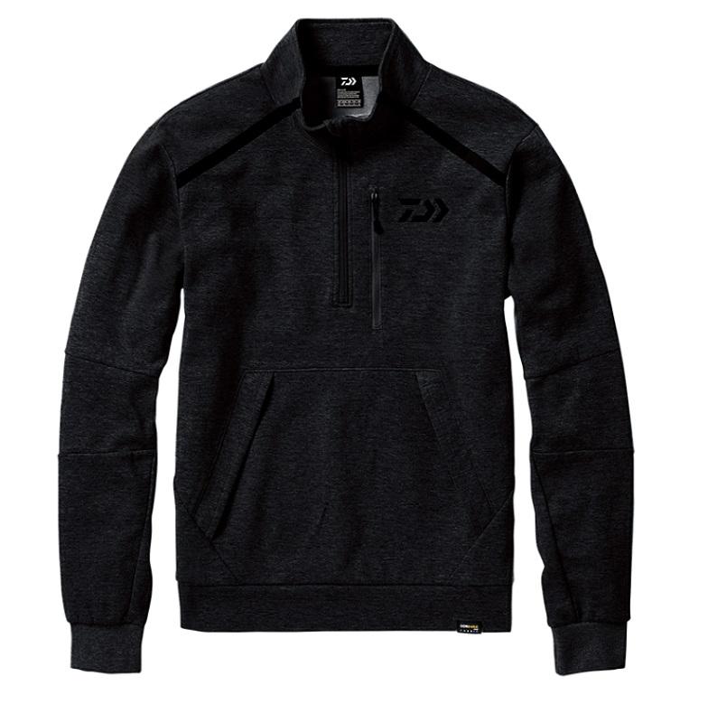 【お買い物マラソン】 ダイワ DJ-32008 CORDURA ライトスウェットハーフジップジャケット ブラック L / 釣り 防寒 ジャケット