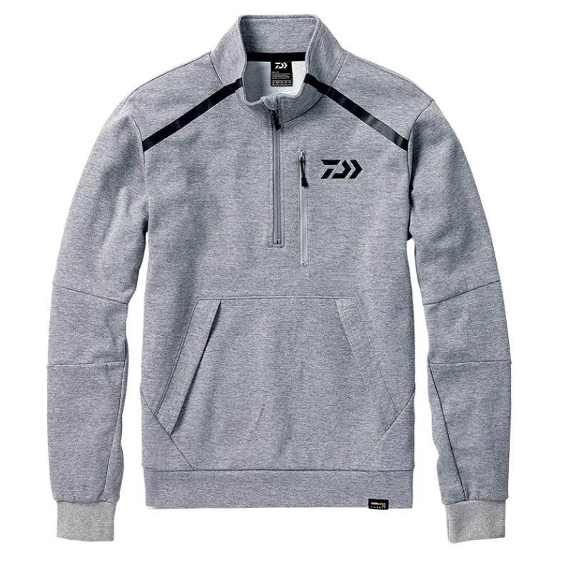 【お買い物マラソン】 ダイワ DJ-32008 CORDURA ライトスウェットハーフジップジャケット フェザーグレー XL / 釣り 防寒 ジャケット