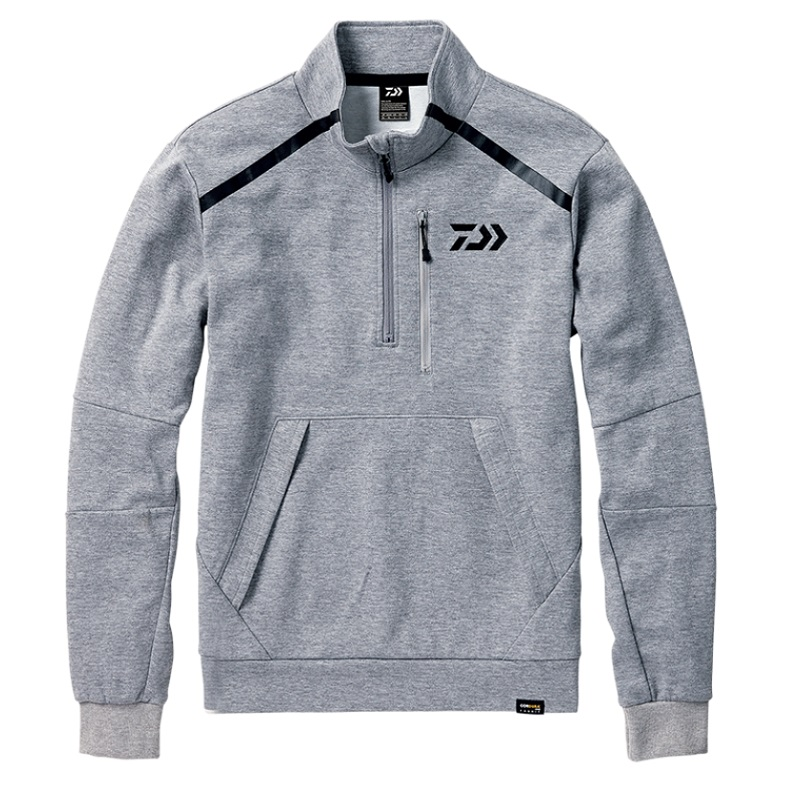 【お買い物マラソン】 ダイワ DJ-32008 CORDURA ライトスウェットハーフジップジャケット フェザーグレー 2XL / 釣り 防寒 ジャケット