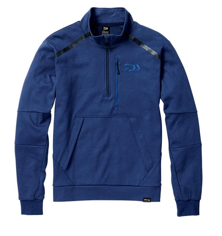 ダイワ DJ-32008 CORDURA ライトスウェットハーフジップジャケット フェザーブルー L / 釣り 防寒 ジャケット