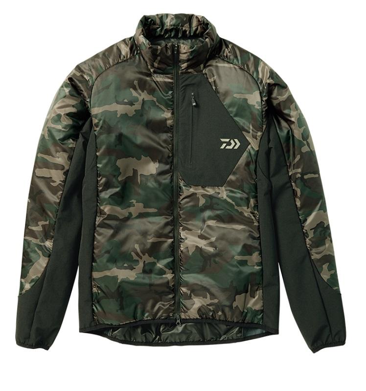 ダイワ DJ-24008 プリマロフト ライトジャケット グリーンカモ 2XL / 釣り 防寒 ジャケット